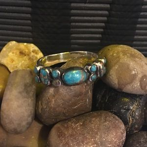 Sterling Silver Santa Fe Mojave Turquoise Ring
